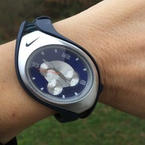 Nike Men's Triax Blue Silver Chrono Quartz Watch
